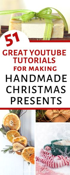 Handmade Christmas gifts are such a special way to love on people, while being frugal in the process. Here are 51 great tutorials for handmade Christmas gifts, with something for everyone on your… Handmade Christmas Presents, Christmas Crafts For Gifts, Diy Crafts For Gifts, Homemade Christmas, Christmas Diy, Fun Gifts, Diy Gifts Cheap, Easy Handmade Gifts, Handcrafted Gifts