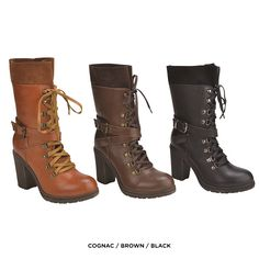 Chunky Heel Lace-Up Warrior Princess Tall Boots - Assorted Colors