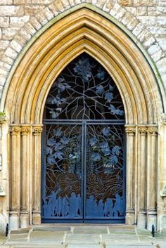 Church entrance. love this door!