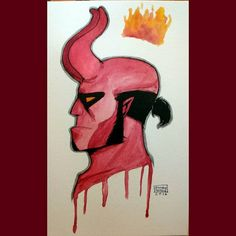 #hellboy done! ((#ztdraws #fanart #watercolor #darkhorsecomics #art #painting #instadraw #traditionalart #artstagram ))