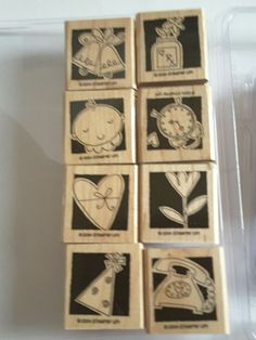 Stampin' Up *OCCASIONALLY.* 8 pc Mounted Rubber Stamp Set. Retired. 2004 | Crafts, Stamping & Embossing, Stamps | eBay! Stampin Up, Holiday Decor, Stamps, Cards, Ebay, Seals, Stamping Up, Maps, Postage Stamps