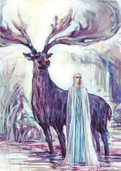 Thranduil and his elk #hobbit #fanart