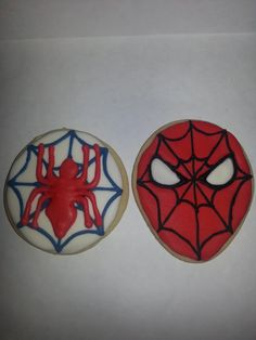 Spiderman Cookies  Thanks Sugarbelle for the tutorial!!  http://www.sweetsugarbelle.com/