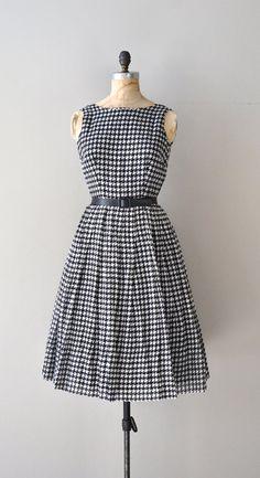 De Pinna dress / vintage houndstooth 50s dress / by DearGolden