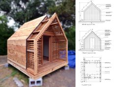 Life of an Architect – Lantern Playhouse Cabin Design, Tiny House Design, Glamping, Outdoor Sauna, A Frame House, Tiny House Cabin, Garden Buildings, Garden Office, Shed Plans