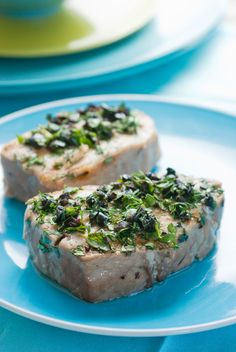Grilled Tuna With Herbs and Olives Recipe - NYT Cooking