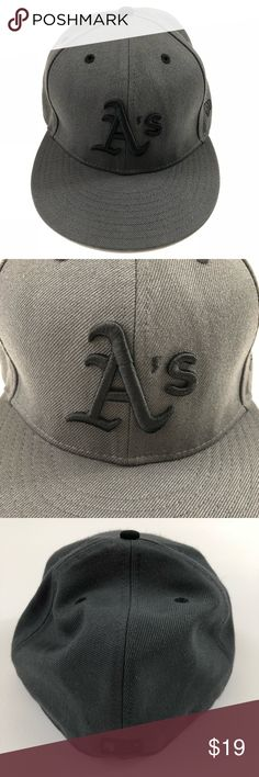 "New Era 59Fifty Oakland Athletics Hat New Era 59Fifty Oakland A's Hat. 7 1/2"" size. In excellent used condition. MLB pro fit hat. No rips, holes, or tears. Bill in good shape as well. Please see all pics and ask any questions prior to purchase. Thank you! New Era Accessories Hats"
