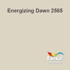 Flexa Couleur Locale kleur Energizing Dawn 2585 Happy House, Dawn, Paint Colors, New Homes, Passion, Colours, Let It Be, Caravan, Indoor