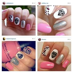 pink. leopard. diamond. silver. glitter.