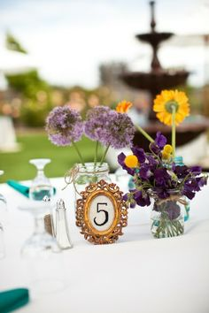 Colorful Bay Area Wedding from Emily Takes Photos Diy Wedding, Wedding Flowers, Wedding Ideas, Wedding Things, Reception Decorations, Wedding Centerpieces, Centerpiece Ideas, Onion Flower, Samantha Wedding