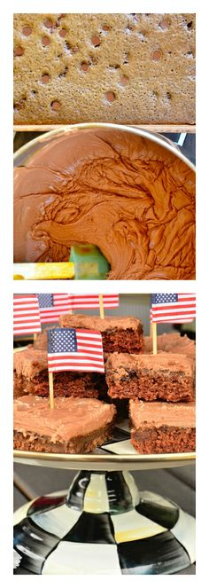 Double Chocolate Texas Sheet Cake Brownies--FEEDS 16-20   ReluctantEntertainer.com #LABORDAY