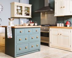 A timeless design from Creamery Kitchens. Handmade Creamery classic kitchen, with painted finishes, the Classic kitchen range would suit every home.