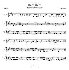 Partitura de Waka Waka para Violín Shakira Violín Sheet Music The Time for Africa Esto es África. Para tocar con tu instrumento y la música original de la canción. Alto Sax Sheet Music, Violin Sheet Music, Piano Music, Music Sheets, Shakira, Music Lyrics, Musicals, Scores, Flute