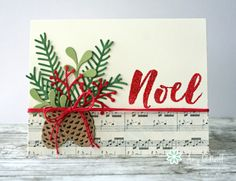 Stampin' Up! Pretty Noel Pines
