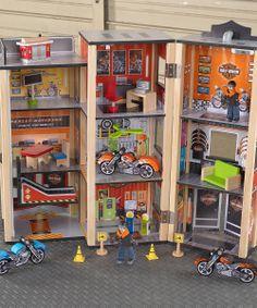 Harley Davidson Garage Play Set