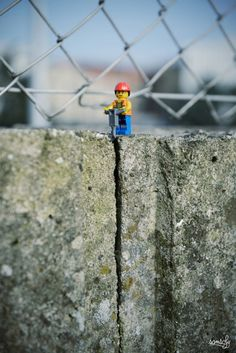 Digger - LEGO minifigs caught on camera in funny situations via Creative Boom #lego