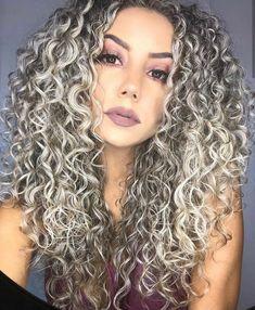 Curly Hair Styles, Natural Hair Styles, Salt And Pepper Hair, Dark Hair With Highlights, Wild Hair, Natural Curls, Curly Girl, Cool Hairstyles, Hair Makeup