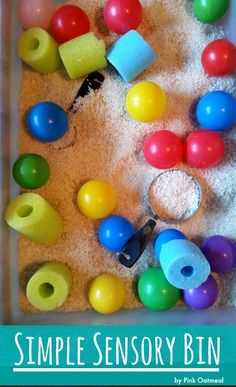 An fast and easy way to make a simple sensory bin!
