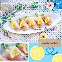 桃咲マルク's dish photo フルーティーなレモン寿司   http://snapdish.co #SnapDish #レシピ #簡単料理 #節約料理 #お寿司 #ひな祭り #レモンの日(10月5日)