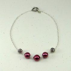 cavossa designs - Fuchsia Pearl Necklace, $28.00 (http://www.cavossadesigns.com/fuchsia-pearl-necklace/)