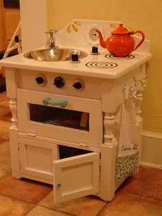 Recycled Play Kitchen with oven