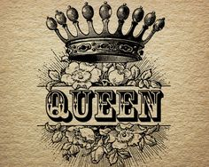 Queen Crown Royalty Roses Victorian Antique by DownloadInspiration
