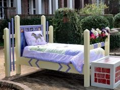 What a cool idea for a kids bed!
