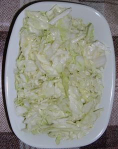 Fresh cabbage salad,as an tasty and unavoidable contribution to any main meal (mostly meat meals),could be decorated,arranged and served in appropriate vessels.