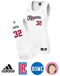Grab this awesome Women's Adidas Los Angeles Clippers #32 Blake Griffin White Swingman Home Jersey to prove you are the trued fan of Los Angeles Clippers. With the official NBA Logo and stitched down, screen-printed twill Clippers, GRIFFIN and number:32 on jersey, you'll look like the big NBA supers