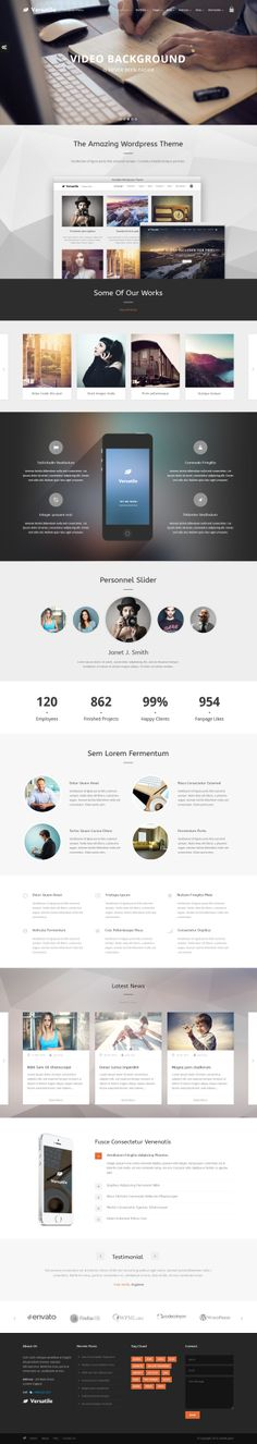 Versatile - Responsive Multi-Purpose WP Theme #web #design
