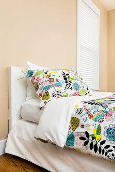 Etsy -  Duvet Cover made with June Bug fabric by Alexander Henry and 100% organic cotton sateen - Twin size