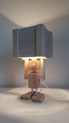 New! - Isiah Table Lamp Made entirely from reclaimed materials