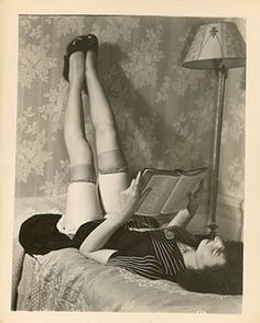 Reading in stockings