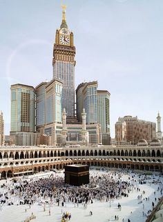 This is The Ka'ba a mosque built in Mecca. Mecca is the holiest city for people who practice Islam. Mekka Islam, Laos, Travel To Saudi Arabia, Mecca Wallpaper, Hd Wallpaper, Wallpapers, Moslem, Masjid Al Haram, Cambodia