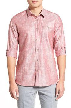 cd5207eccda989 Ted Baker London  Linoo  Modern Slim Fit Linen Blend Sport Shirt Sports  Shirts