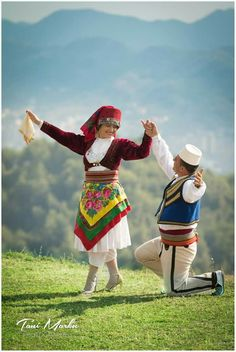 Albanian garments from Mirdita, wedding pictures. Albanian Culture, European Costumes, Albania Travel, Wedding Outfits For Groom, Costumes Around The World, Folk Clothing, Folk Dance, Folk Costume, Ethnic Fashion