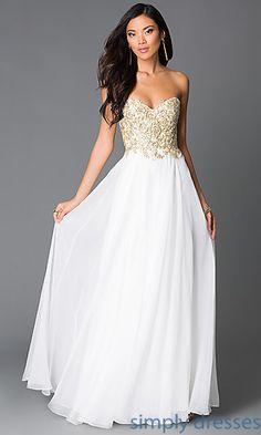 Dresses, Formal, Prom Dresses, Evening Wear: Strapless Sweetheart Floor Length Prom Dress G559