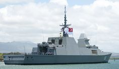 Singapore Navy stealth frigate.