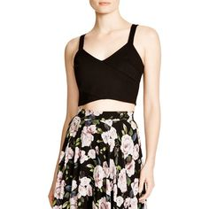 Lucy Paris Crop Top ($41) ❤ liked on Polyvore featuring tops, black, crop top, summer crop tops, black top, black crop top and summer tops