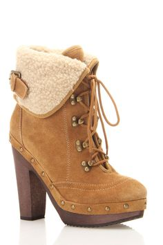 Anka Short Boot In Tan Suede - Beyond the Rack