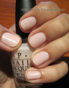 OPI Bubble Bath. I'm very conservative on nail color. Plain beige and french manicure are my favorites. I may get a like crazy this summer....we'll see.