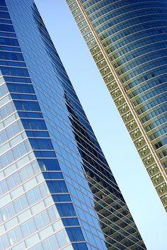 Rascacielos de Madrid. Se les puede encontrar en el CTBA al norte de la capital.