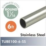 Stainless steel closet rod, 6ft $56.00