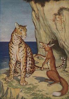Coisas de criança!: O leopardo e a raposa.