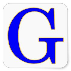 New Orleans style blue letter street name tiles on stickers for crafts and scrapbooks, Blue Letter G Sticker #nola #neworleans