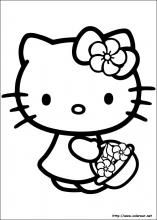 Printable Hello Kitty Coloring Pages For Kids. When we first heard Hello Kitty, the first one that occurred in our minds was a cute cat character that was very Hello Kitty Colouring Pages, Cat Coloring Page, Cartoon Coloring Pages, Coloring Book Pages, Coloring Pages For Kids, Free Coloring, Coloring Sheets, Hello Kitty Natal, Hello Kitty Fotos