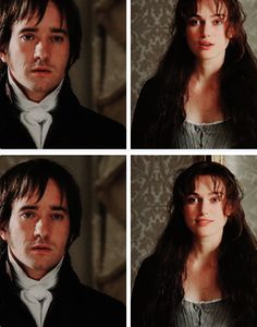 """""""I was trying to give the impression that Darcy was shocked into staying put.…by the sight of her"""". (Joe Wright, Director) › #prideandprejudice › #prideandprejudice2005 › #janeausten › #fitzwilliamdarcy › #elizabethbennet ›"""