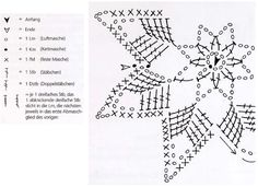 Crochet Snowflake + Free Pattern Step By Step + Diagram Crochet Snowflake Pattern, Crochet Stars, Crochet Snowflakes, Crochet Patterns, Crochet Tablecloth, Crochet Doilies, Crochet Flowers, How To Start Knitting, Learn To Crochet