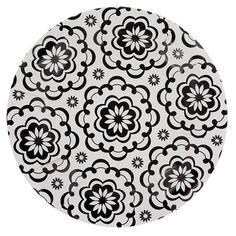 "Black & White Paisley Paper Plates, 7"", 20-ct. packs"
