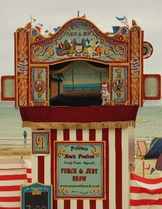 Vintage Punch and Judy on Weymouth seafront, England Shadow Puppets, Hand Puppets, Vintage Circus, Vintage Toys, James Ensor, Toy Theatre, Theatre Stage, Punch And Judy, Marionette Puppet